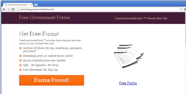 Free Government Forms Virus を削除します。