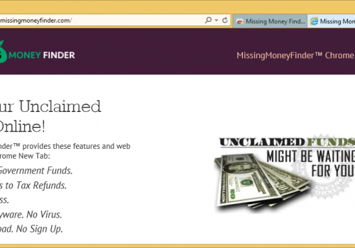 Missing Money Finder Removal