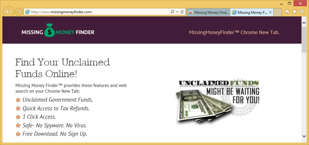 إزالة Missing Money Finder