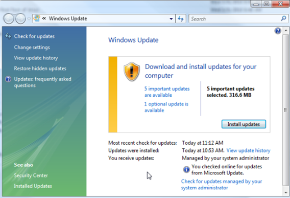 Update Microsoft Windows