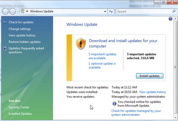 Update Microsoft Windows