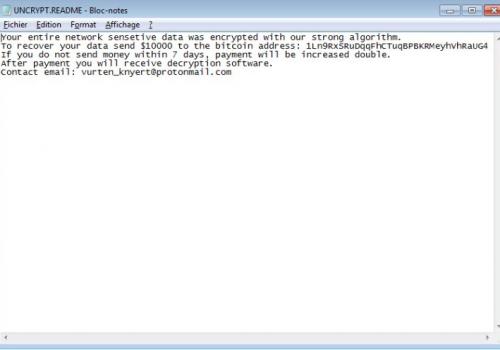Hoe te ontgrendelen van Vurten ransomware