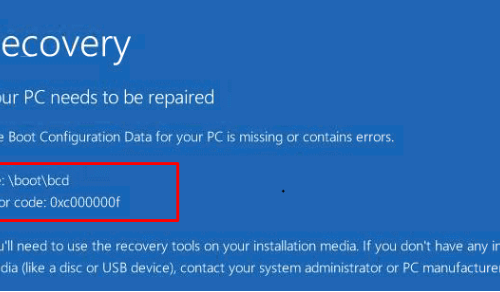 Remove Windows 10 Error Code 0xc00000f