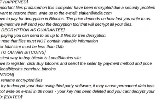 Slaker@india.com ransomware verwijderen