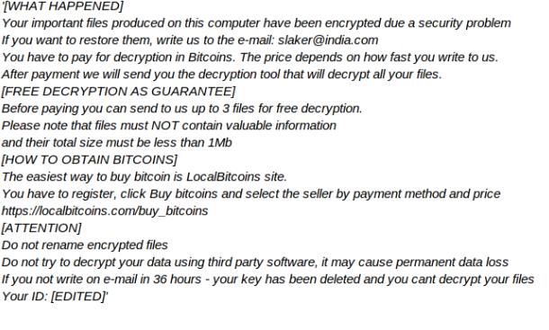 slaker@india.com ransomware