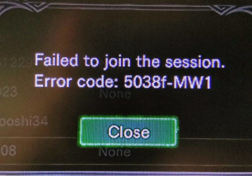 Remove Error Code 5038f-mw1