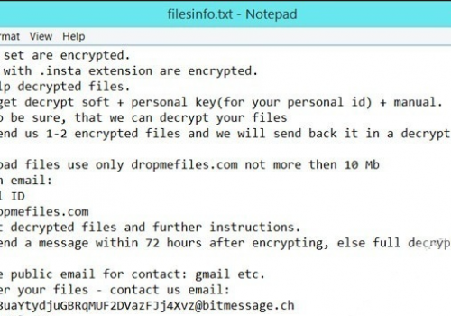 Fjerne Insta Ransomware