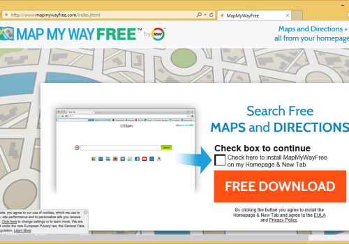 MapMyWayFree Toolbar borttagning
