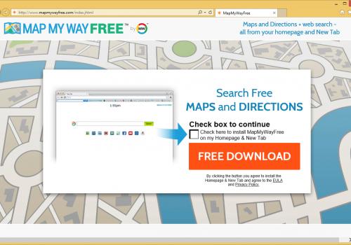 Jak odstranit Mapmywayfree Toolbar