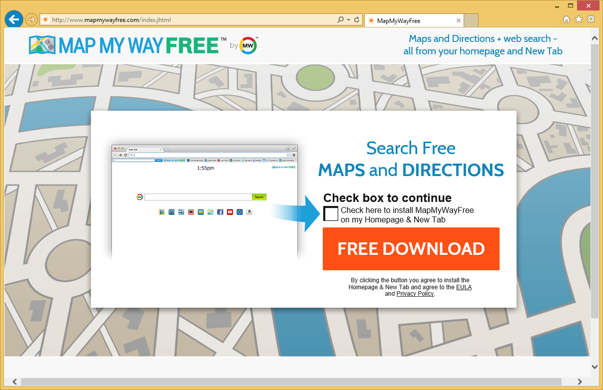 Come rimuovere Mapmywayfree Toolbar