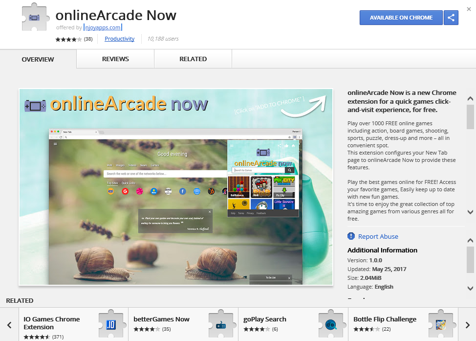 Fjern OnlineArcade Now