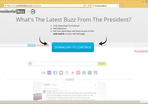Ta bort PresidentialBuzz toolbar