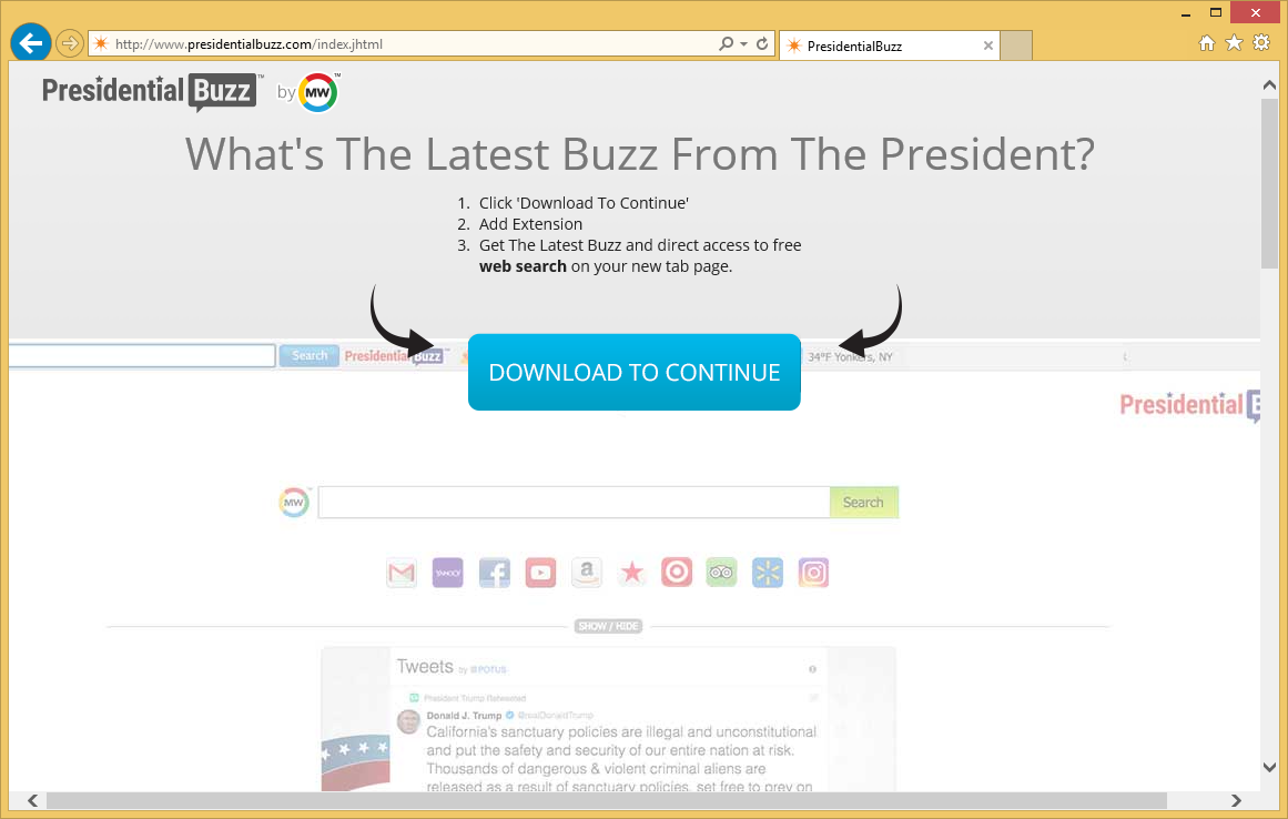 Poista PresidentialBuzz toolbar
