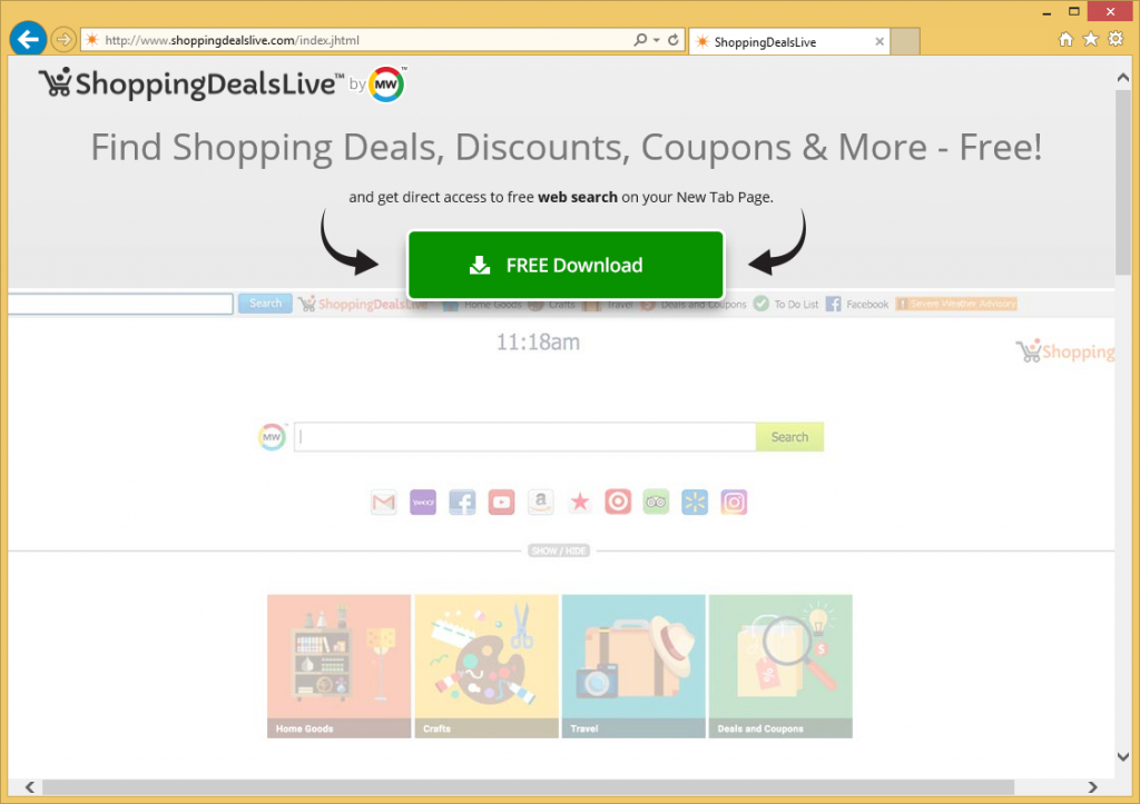 ShoppingDealsLive Toolbar