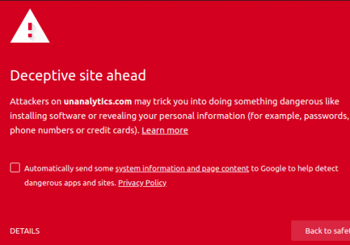 Remove Unanalytics.com