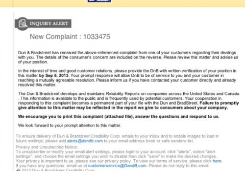 Dun & Bradstreet Email Virus
