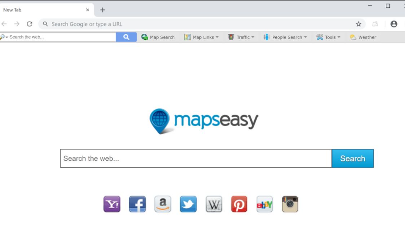 Supprimer MapsEasy New Tab