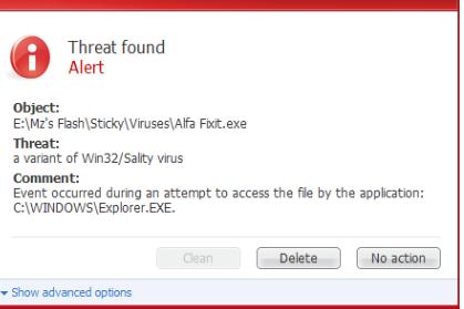 Poista Sality Trojan Virus