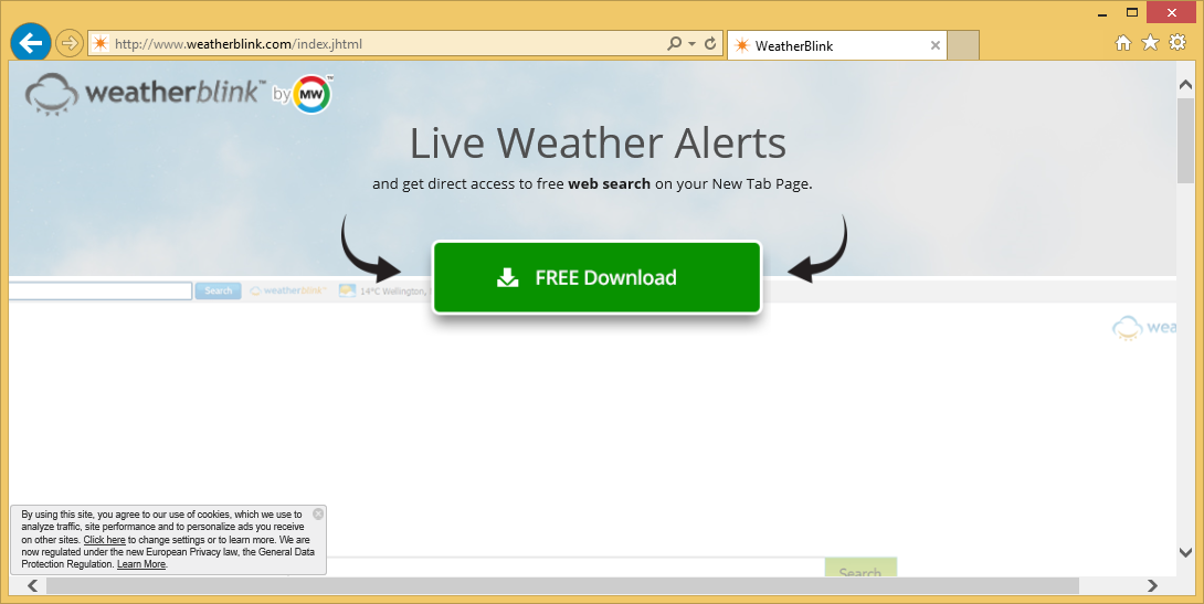 Menghapus WeatherBlink Toolbar