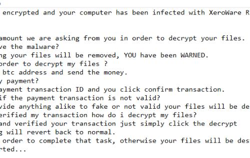 เอา XeroWare ransomware