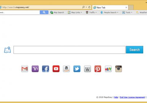 إزالة Search.mapseasy.net