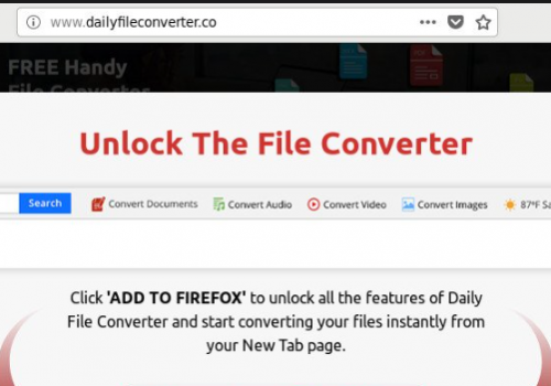 Comment faire pour supprimer Dailyfileconverter Redirect Virus