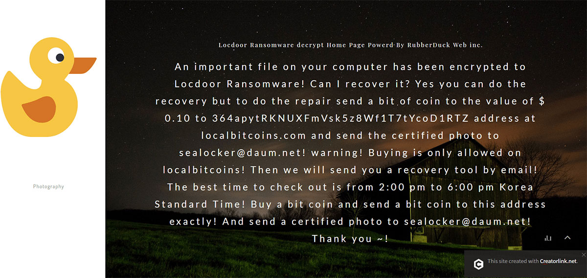 Locdoor Ransomware Removal