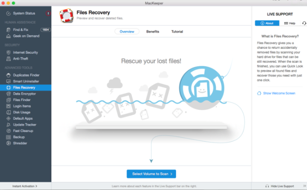 MacKeeper File Recovery