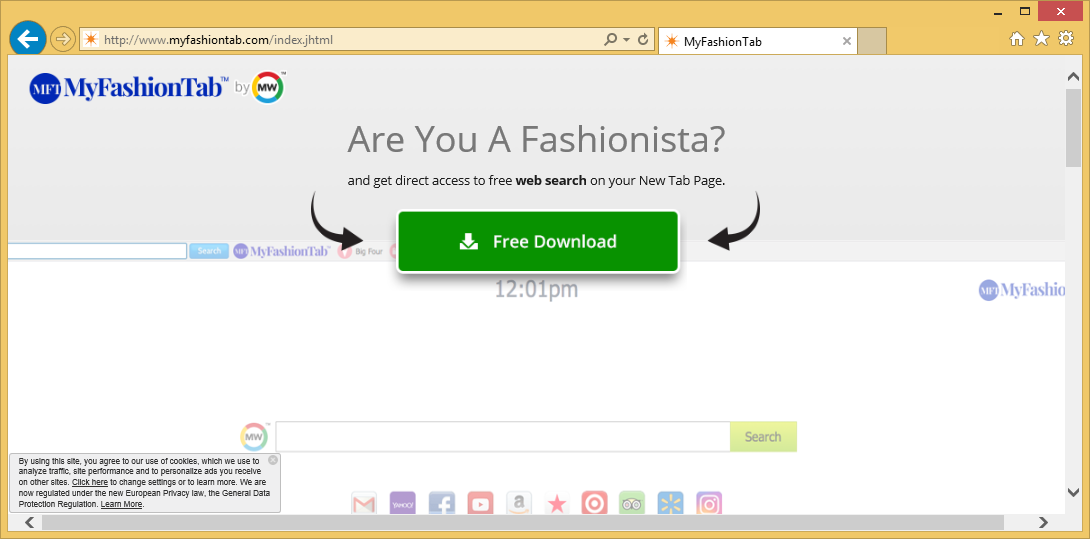 Fjern MyFashionTab Toolbar