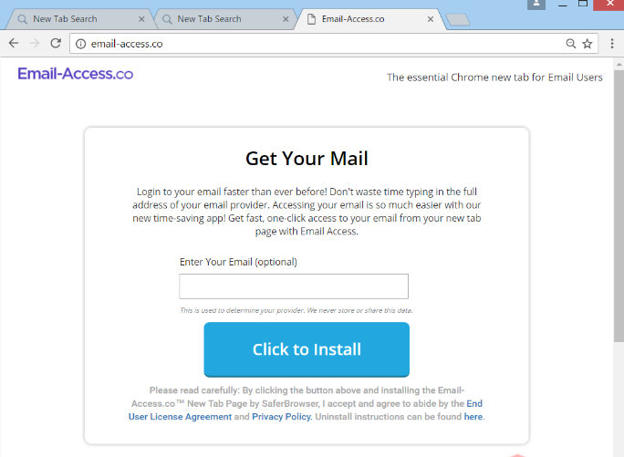 Fjern Your Email Access redirect