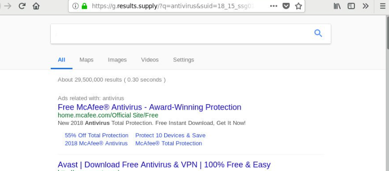 Remove G.results.supply redirect