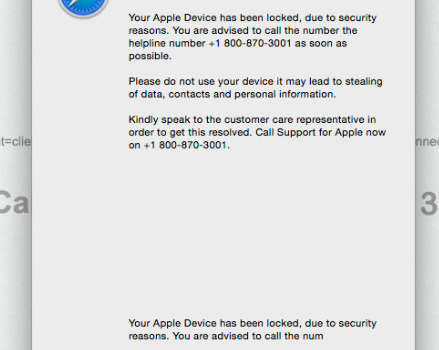 Rimuovere Apple Support Alert POP-UP Scam