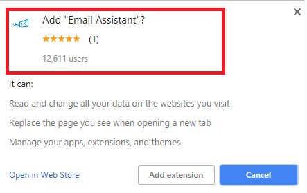 Удаление Email Assistant Virus