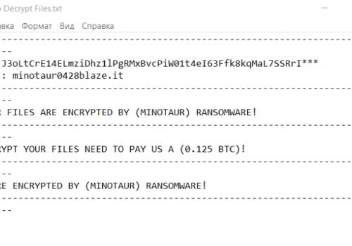 Minotaur ransomware kaldır