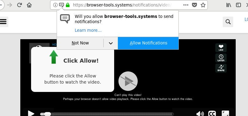 Fjerne Notification-browser.tools