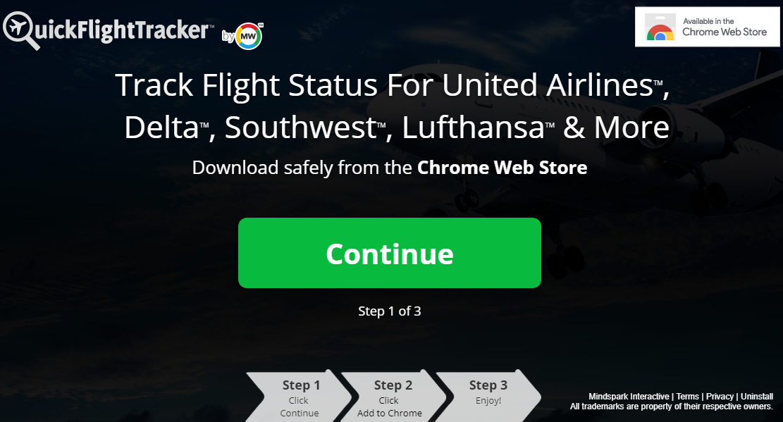 Fjern QuickFlightTracker Toolbar