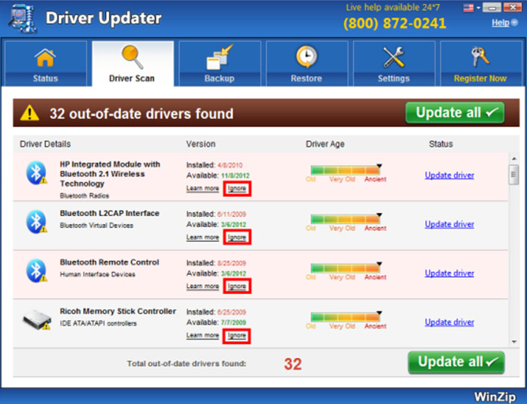 WinZip Driver Updater Virus