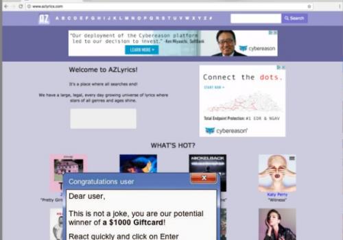 Ads by AZLyrics Removal