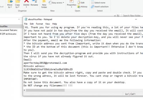 Come sbloccare i file Aperfectday2018 Ransomware