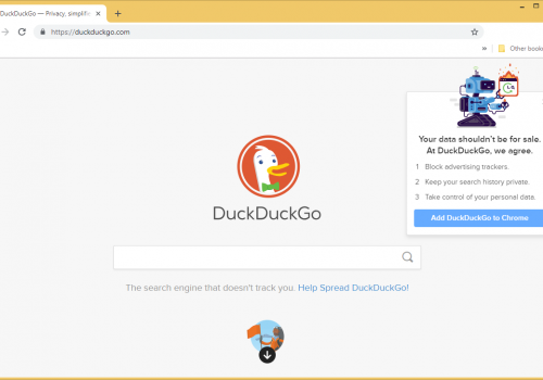 Suppression de Duckduckgo.com