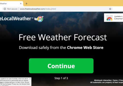 FreeLocalWeather Extension Removal