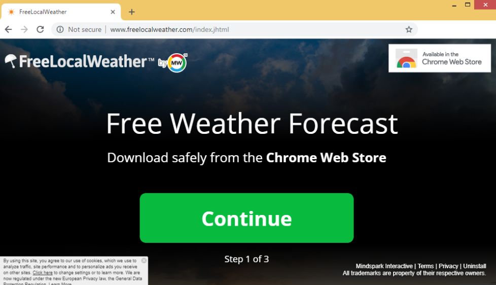 إزالة FreeLocalWeather Extension