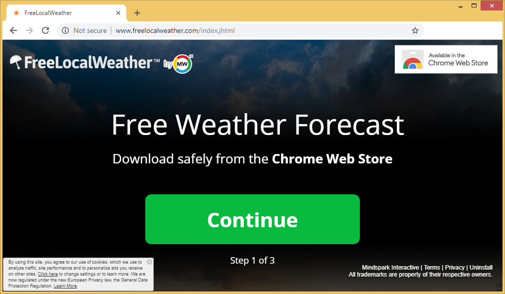 Fjern FreeLocalWeather Toolbar