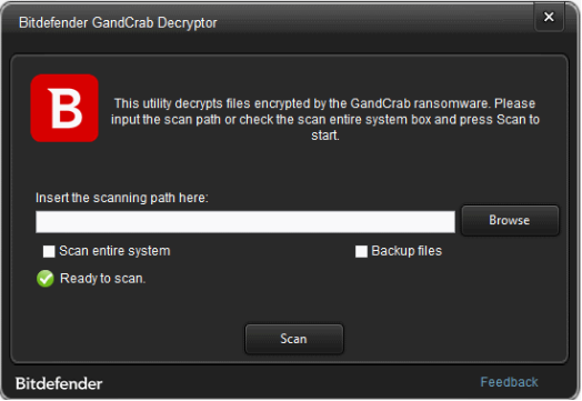 GandCrab Ransomware Free decryption tool