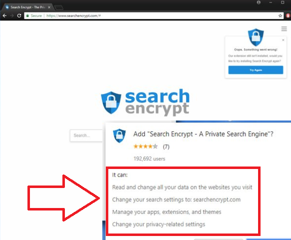 Search Encrypt Virus