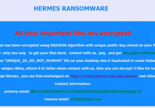 Usuń Hermes 2.1 Virus