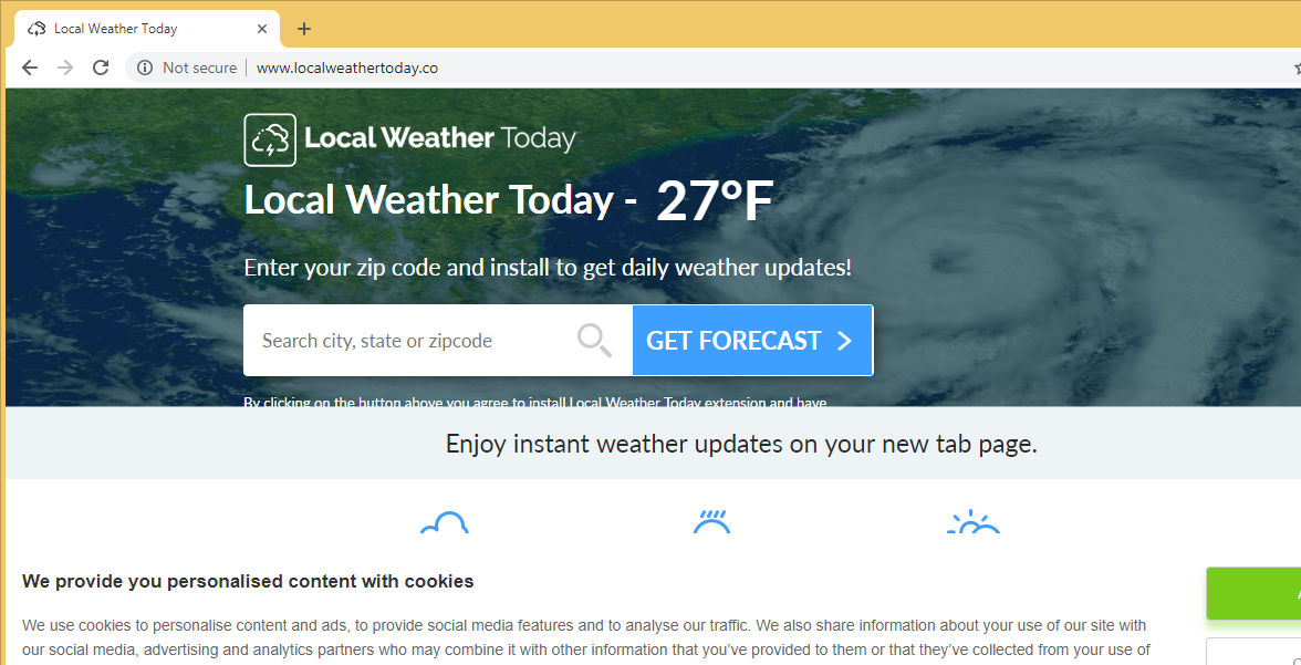 Удаление Local Weather Today Virus