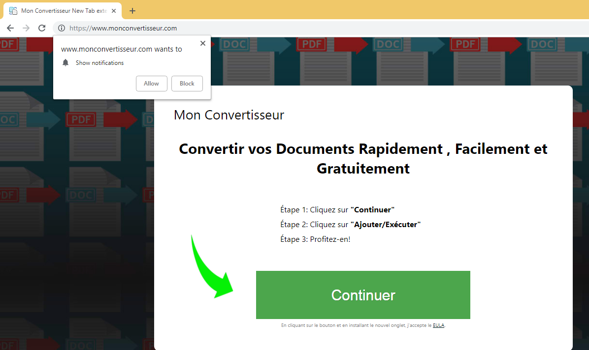 إزالة MonConvertisseur
