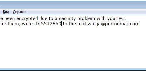 Eliminar ZariqaCrypt ransomware