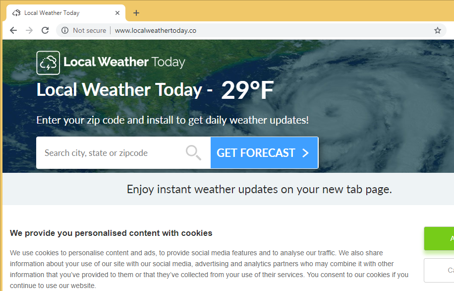 Удаление localweathertoday.co